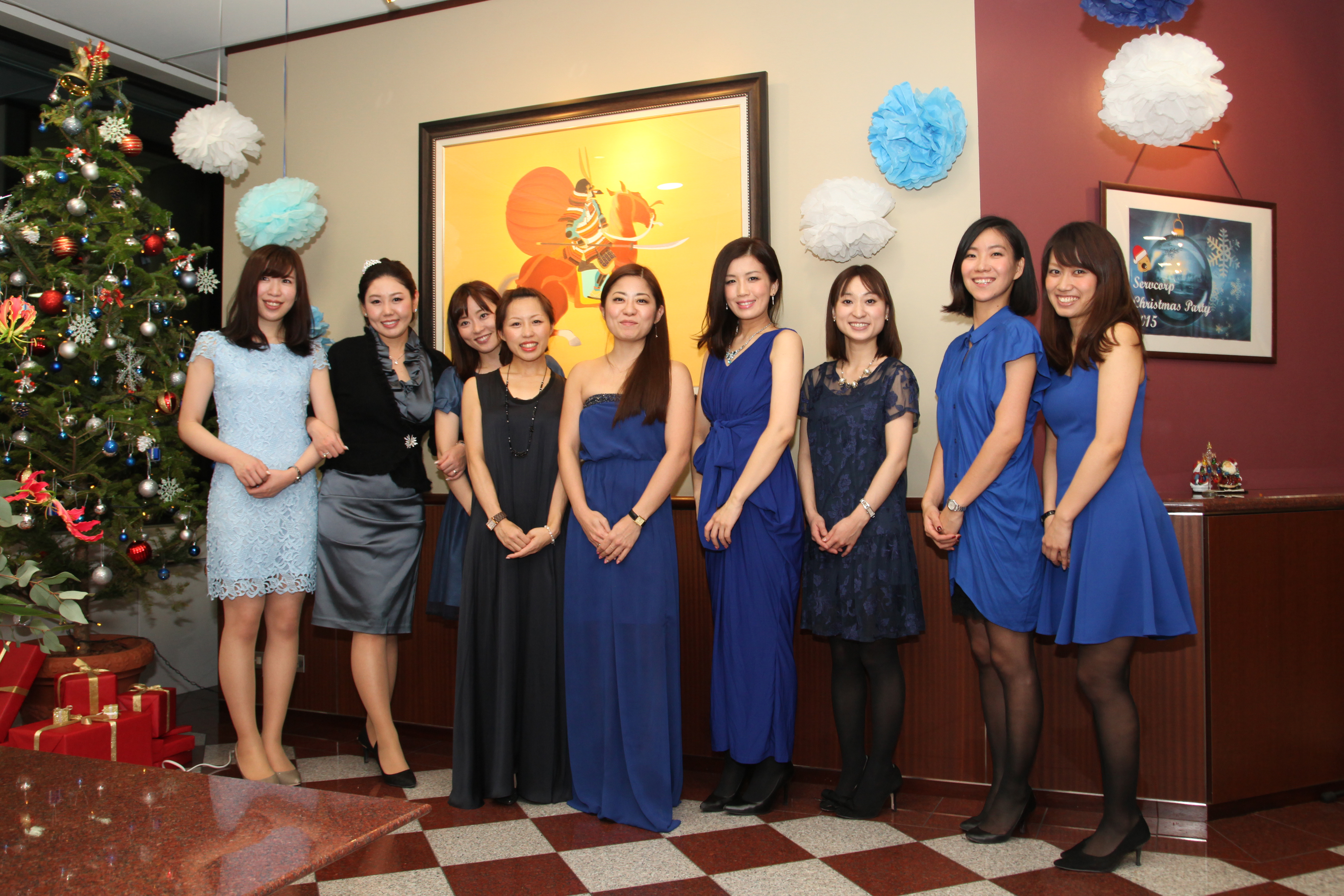 aoyama rental office staff for a christmas servcorp party 2015