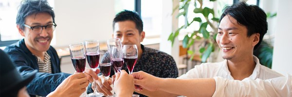 Servcorp Community Toasting with Wine