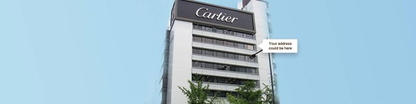 Your address could be at Shinsaibashi Cartier Building